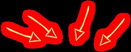 arrows glow